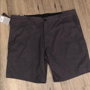 Hawke & Co men's stretch woven shorts grey 38